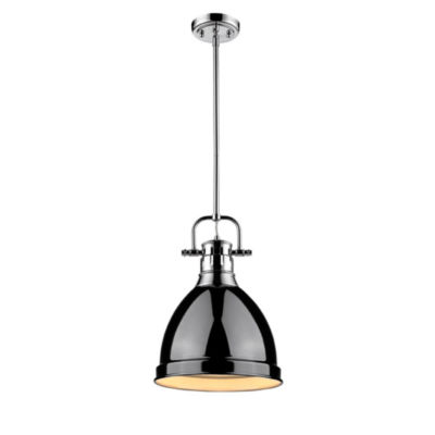 Duncan Small Pendant with Rod in Chrome