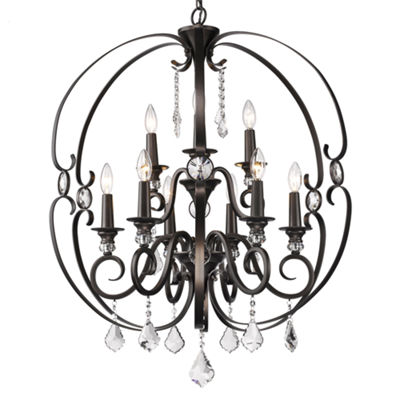 Ella 2-Tier 9-Light Chandelier