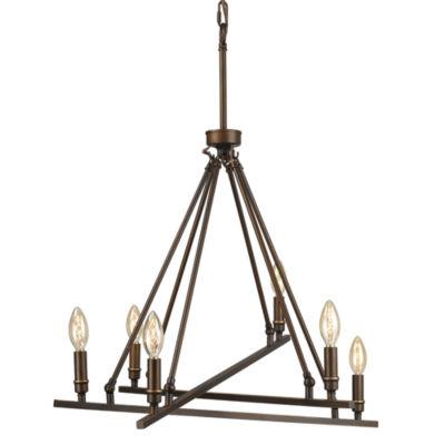 Garvin 6-Light Chandelier in Rubbed Bronze