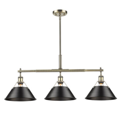 Orwell Linear Pendant in Aged Brass