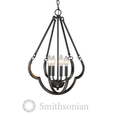 Saxon 4-Light Pendant in Aged Bronze
