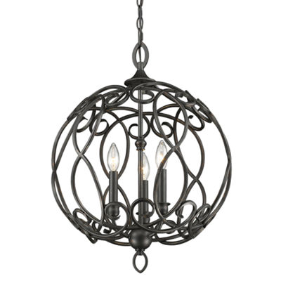 Selene 3-Light Pendant in Aged Bronze