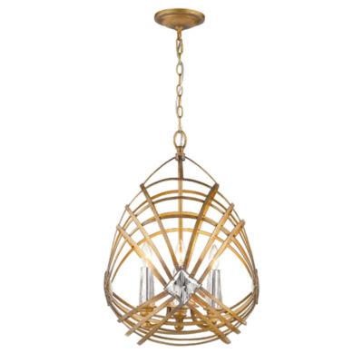 Signet 4-Light Pendant in Royal Gold