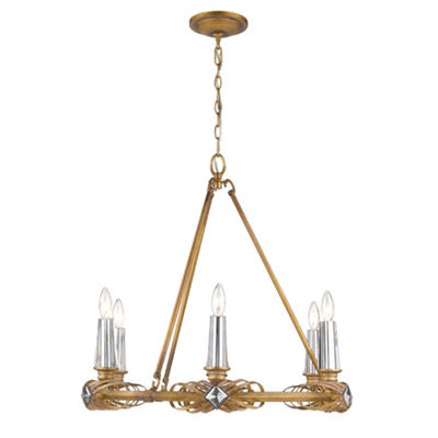 Signet 6-Light Chandelier in Royal Gold