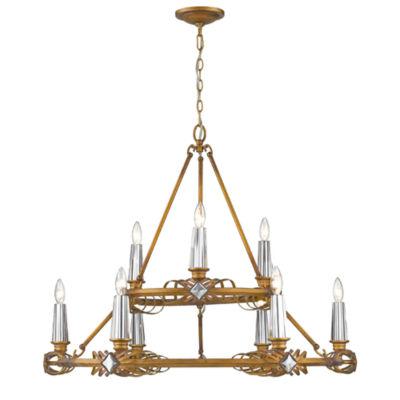 Signet 9-Light Chandelier in Royal Gold