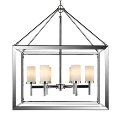 Smyth 6-Light Chandelier in Chrome