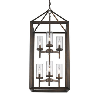 Smyth 6-Light Pendant in Gunmetal Bronze