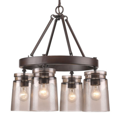 Travers 4-Light Chandelier in Rubbed Bronze