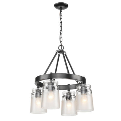 Travers 4-Light Chandelier in Black