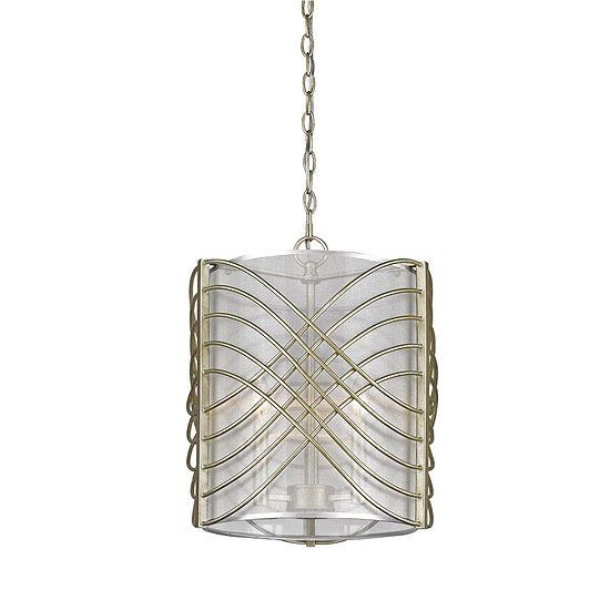 Zara 3-Light Pendant in White Gold