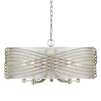 Zara 5-Light Chandelier in White Gold