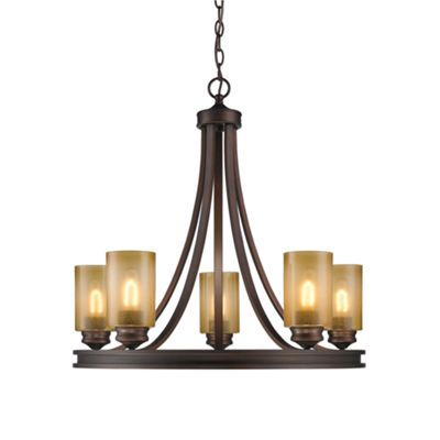 Hidalgo 5-Light Chandelier in Sovereign Bronze