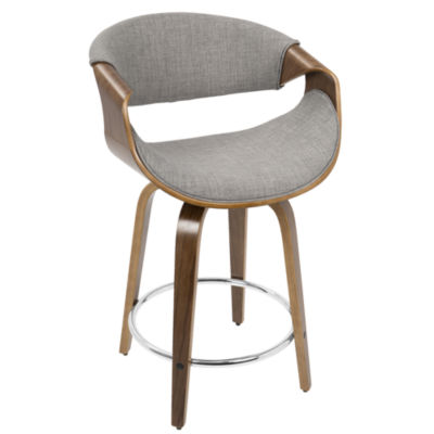 Curvo Mid-Century Modern Adjustable Barstool withSwivel by LumiSource