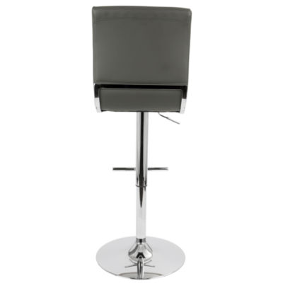 Spago Height Adjustable Contemporary Barstool with Swivel by LumiSource