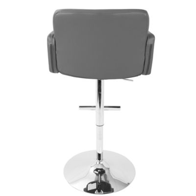 Stout Height Adjustable Contemporary Barstool with Swivel by LumiSource