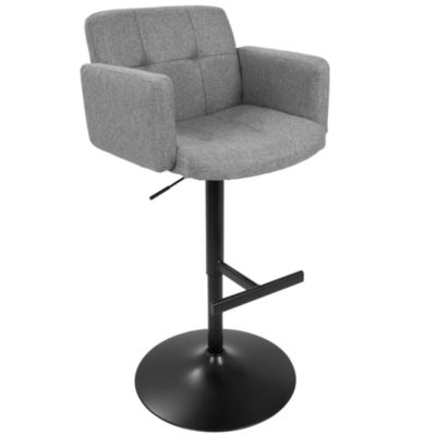 Stout Height Adjustable Barstool with Swivel by LumiSource