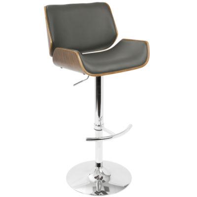 Santi Mid-Century Modern Adjustable Barstool by LumiSource