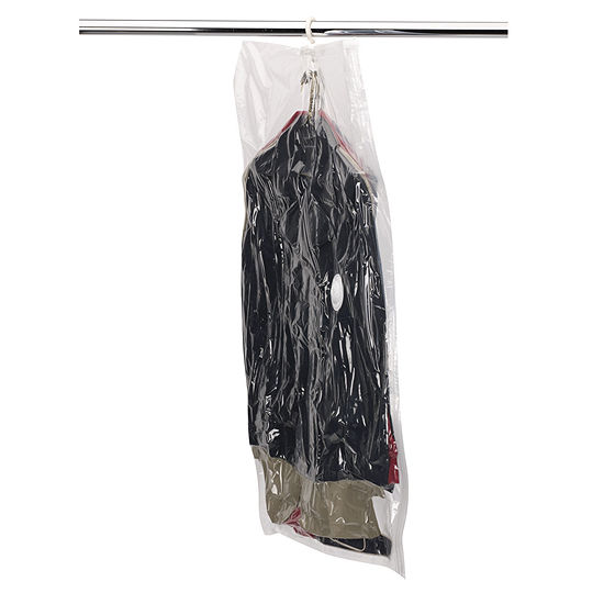 Household Essentials Large Hanging Garment VacuumStorage Bag