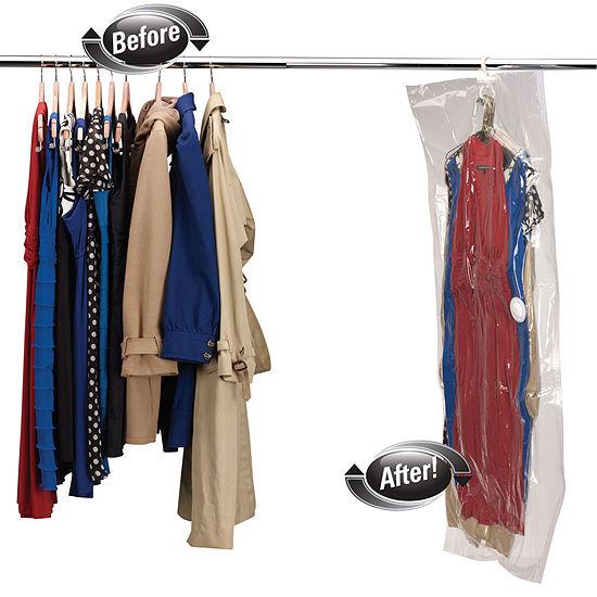Household Essentials Extra-Large Hanging Garment Vacuum Storage Bag