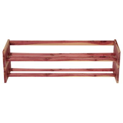 Household Essentials Stackable Cedar Shoe Rack