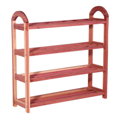 Household Essentials 4-Tier Cedar Shoe Rack
