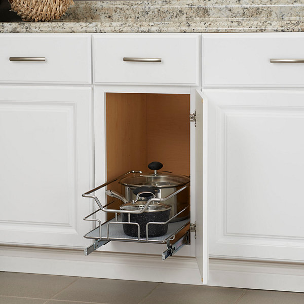 "Household Essentials GLIDEZ Non-Slip 1-Tier 11.5"" Sliding Under Cabinet Organizer"