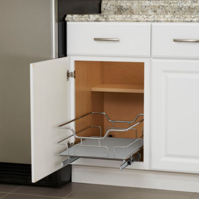 "Household Essentials GLIDEZ Non-Slip 1-Tier 14.5"" Sliding Under Cabinet Organizer"