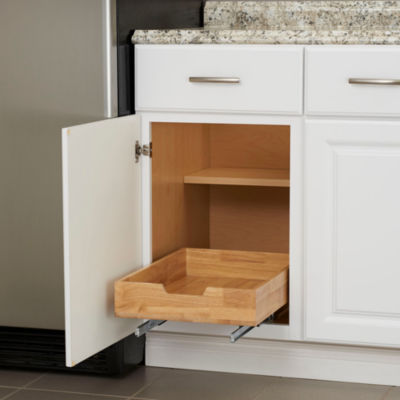 "Household Essentials GLIDEZ 14.5"" Wood Sliding Cabinet Organizer"