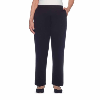 Alfred Dunner Talk Of The Town Ponte Flat Front Pants