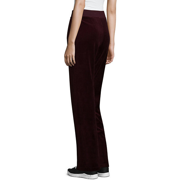 St. John's Bay Active Velour Pull-On Pants (Straight Leg)