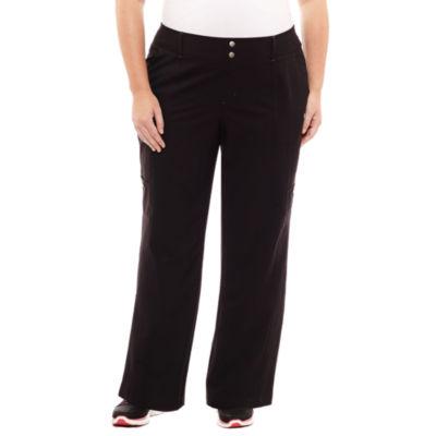 "St. John's Bay Active® Woven Workout Pants - Plus (30"" uncuffed)"