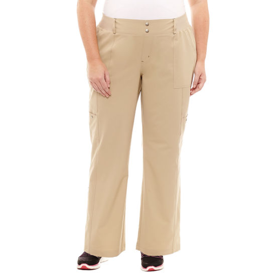"St. John's Bay Active® Woven Workout Pants - Plus (30"" uncuffed)"