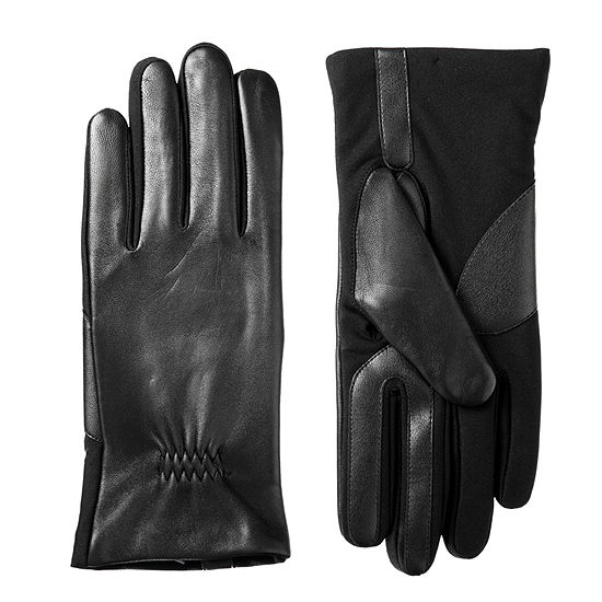 Isotoner Cold Weather Stretch Leather Glove