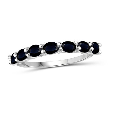 Womens Blue Sapphire Sterling Silver Delicate Ring
