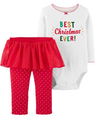 Carter's 2-Pack Pajama Skirt Set - Baby Girls