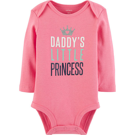 a99032dbb Carter s Slogan Long Sleeve Bodysuits - Girls Nb-24m - Baby - JCPenney