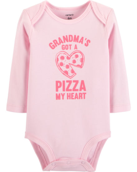 Carter's Slogan Long Sleeve Bodysuits - Girls Nb-24m Bodysuit - Baby