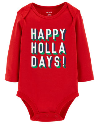 Carter's Slogan Holiday Bodysuit - Baby