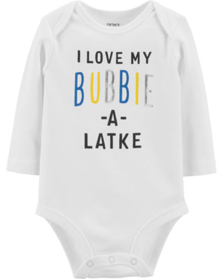Carter's Slogan Long Sleeve Bodysuit - Baby NB-24 months