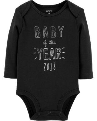 Carter's Slogan Long Sleeve Bodysuit - Baby NB-24 months