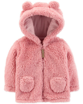 Carter's Zip-Up Sherpa Jacket - Baby Girl
