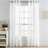 Deals on JCPenney Home Bayview Grommet-Top Sheer Panel