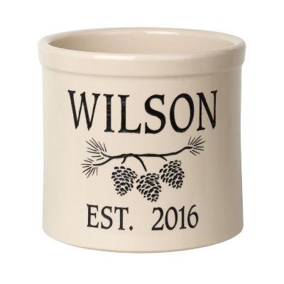 Whitehall Personalized Pine Bough Established 2 Gallon Crock