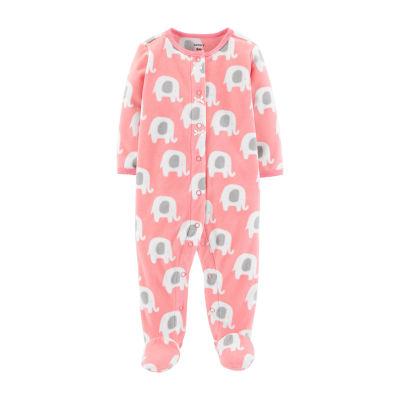 Carter's Fleece Sleep and Play - Baby Girl
