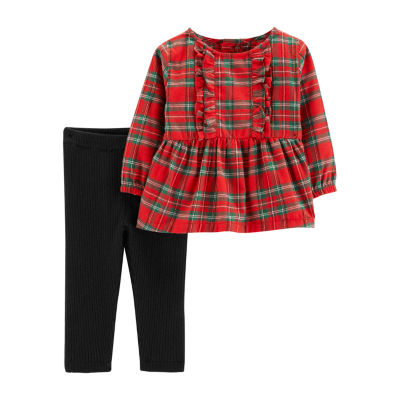 Carter's 2-Pc. Plaid Top & Legging Set - Baby Girls