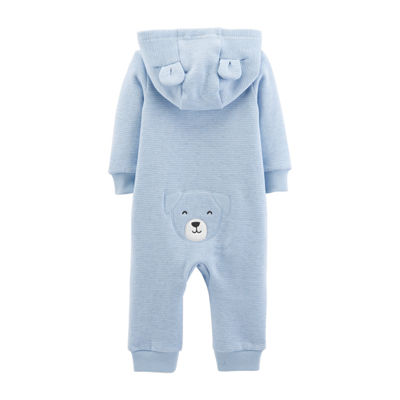 Carter's Dog Hooded Fleece Jumpsuit - Baby Boy