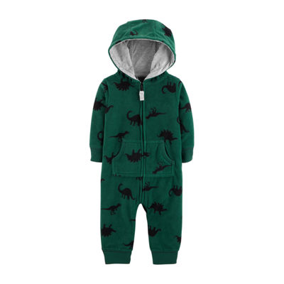 Carter's Hooded Fleece Jumpsuit - Baby Boy
