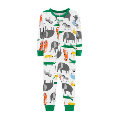 Carter's Boys Knit One Piece Pajama Long Sleeve Round Neck