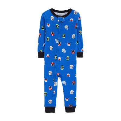 Carter's Boys Fleece One Piece Pajama Long Sleeve Round Neck