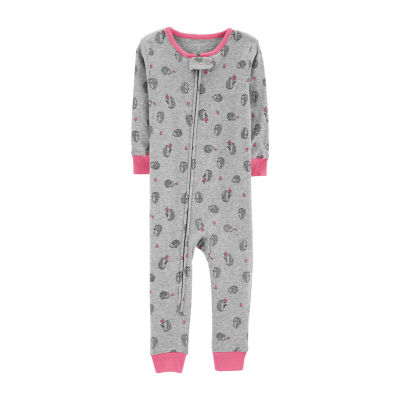 Carter's Girls Jersey One Piece Pajama Long Sleeve Round Neck